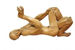 Jacques Boullier, dit Vasselin, St Etienne lapidé, Sculpture en sycomore