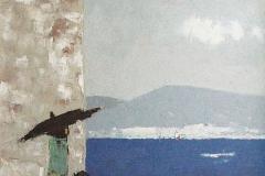 Georges Roudneff, Du bleu dans l'âme, Huile sur toile, 92 cm x 73 cm, 2005